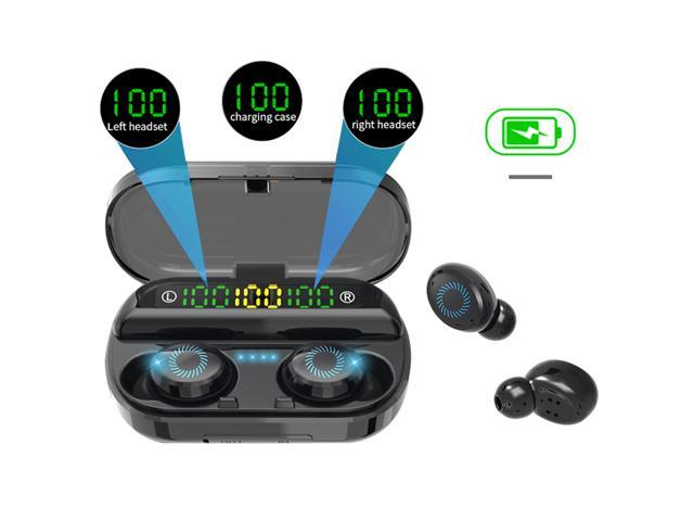 Tws Wireless Earbuds Bluetooth 5 0 Earphones Led Display Noise Cancellation Earphones Earphone With 2000mah Charging Case Newegg Com