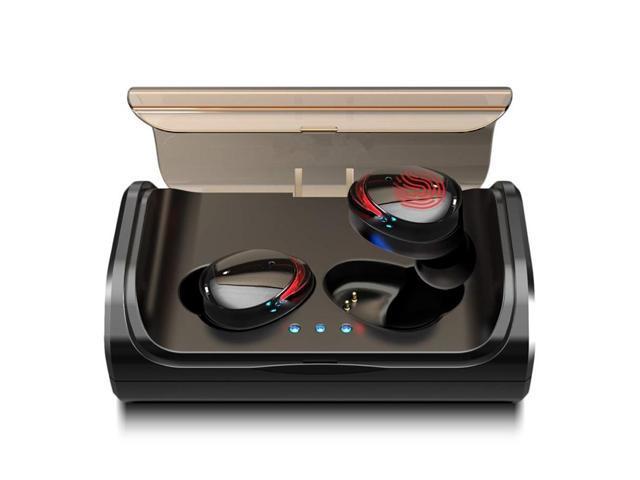 Tws Ture Wireless Stereo Bluetooth Earphones 5 0 Wireless In Ear Earbuds Deep Bass Ipx7 Waterproof Sports Headset With Charging Box Newegg Com