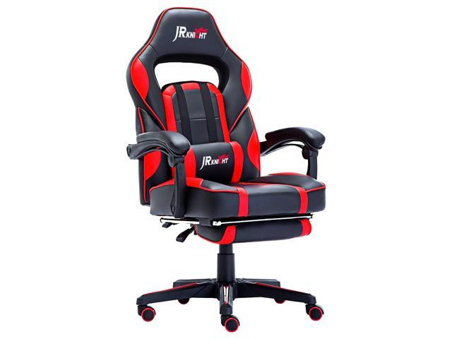 Brand New Design swivel  PU Leather Office Sport Racing Gaming Chair W//Footrest