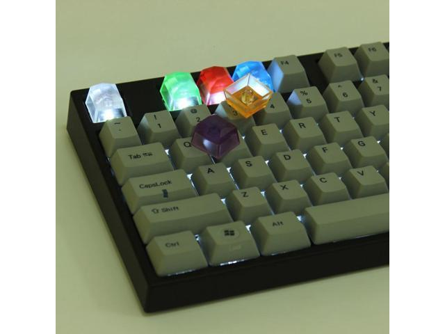 Handmade DSA Shinning Gem Resin Sequined Keycap OEM Profile for Cherry MX RGB Switch Gaming Mechanical Keyboards