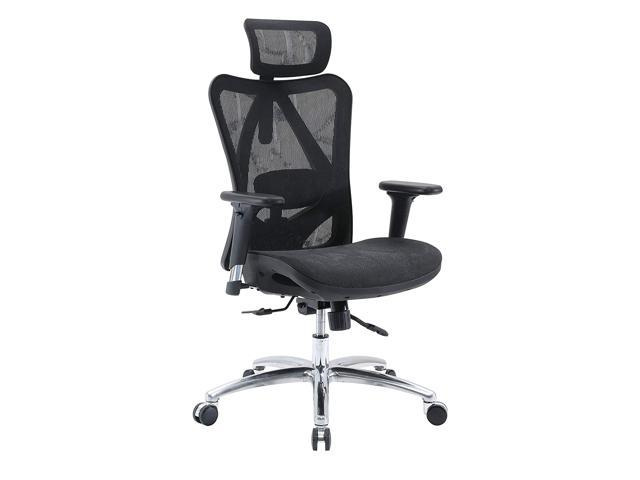 SIHOO M57 Ergonomic Office Chair, High Back Computer Desk Chair, Breathable  Mesh Chair Adjustable 3D Armrest and Lumbar Support (Black)