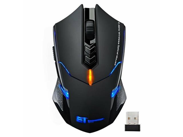 f71439dc9b4 Wireless Gaming Mouse w/ Unique Silent Click Optical 2400 DPI for PC Laptop  Mac