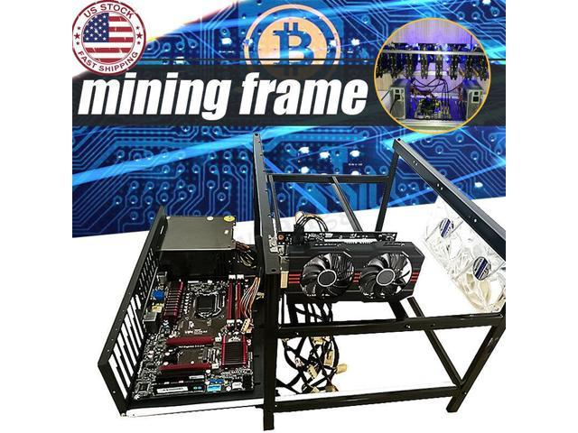 Open Air Mining Miner Frame Rig Case Holder F/ 6 Crypto Coin GPU ETH Ethereum