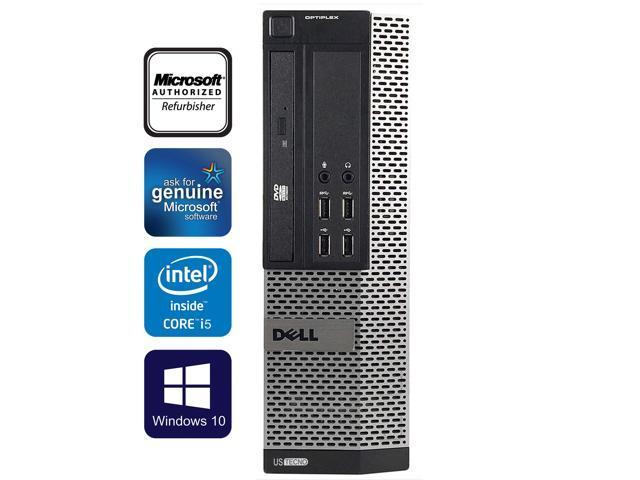Dell Optiplex 9010 SFF Computer Intel Core i5 3470 4GB RAM 128GB SSD DVD  Windows 10 Professional New Keyboard, Mouse,Power cord,WiFi Adapter -