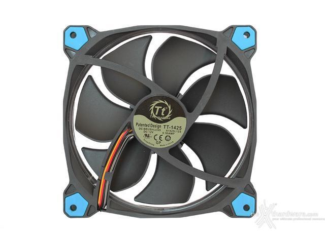 140mm Thermaltake TT-1425 Blue Computer Case Fan 12v DC Brushless