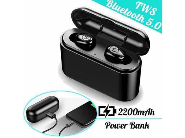 Bluetooth 5 0 Ipx7 Waterproof Headset Tws Wireless Earphones Mini Earbuds Stereo Headphones White Newegg Com