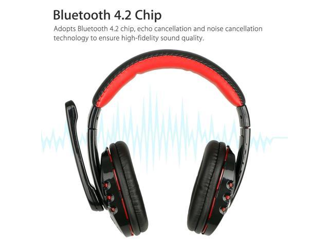 Bluetooth Wireless Gaming Headset For Xbox Pc Ps4 With Mic Led Volume Control Newegg Com