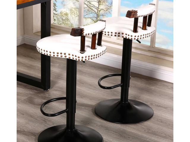Awe Inspiring 2X Retro Vintage Industrial Swivel Bar Stool Cream Customarchery Wood Chair Design Ideas Customarcherynet