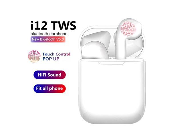 I12 Tws Wireless Headset Bluetooth 5 0 Touch Sport Earphones Stereo For Iphone Xiaomi Huawei Samsung Android Phone For Workout Business Headset Earbuds Newegg Com