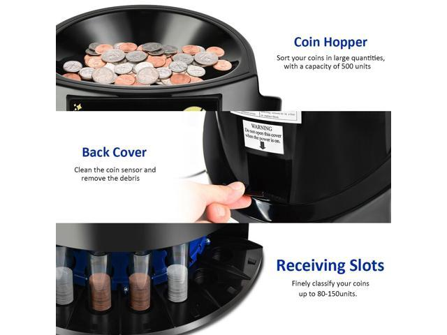 Auto Coin Sorter Dispenser Counting with Coin Tubes & LED Display -  Newegg com