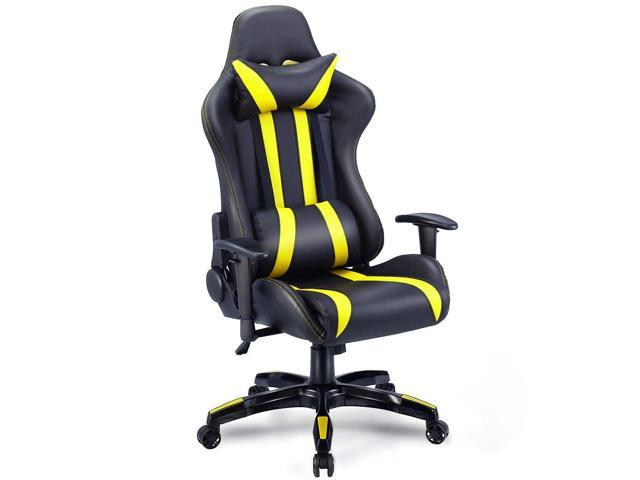Groovy Executive Racing Style High Back Reclining Chair Gaming Chair Office Computer Yellow Newegg Com Machost Co Dining Chair Design Ideas Machostcouk