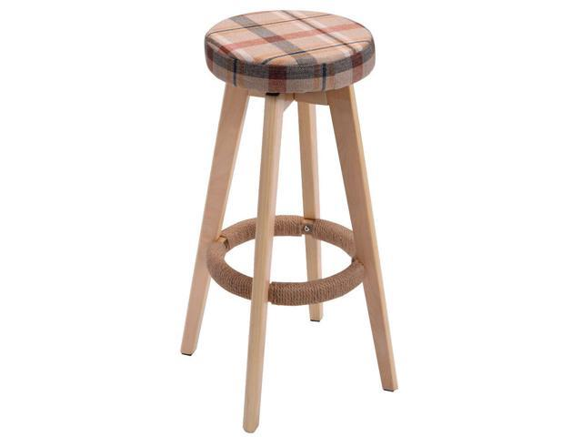 Magnificent Round Wooden Linen Bar Stool Dining Counter Barstools High Chair Furniture Red Newegg Com Evergreenethics Interior Chair Design Evergreenethicsorg