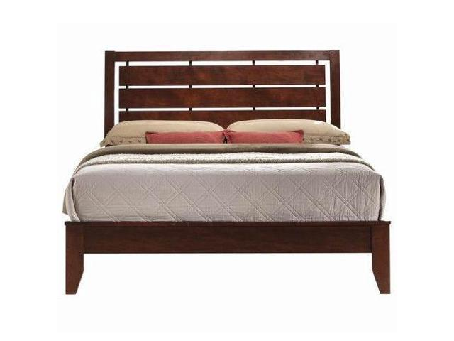big sale 407cb 7b6a5 Home Furniture Bed Frame with Platform Wood Slats Tall Headboard-Queen Size  - Newegg.com