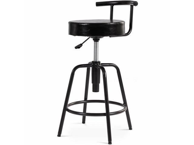 Pleasing Adjustable Swivel Vintage Bar Stool Pu Leather Bistro Pub Newegg Com Frankydiablos Diy Chair Ideas Frankydiabloscom