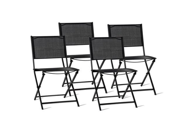 Set Of 4 Outdoor Patio Folding Sling Chairs   Newegg.com