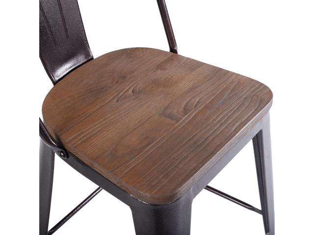 Prime Copper 2 Set Metal Wood Counter Stool Rustic Dining Chairs Newegg Com Pdpeps Interior Chair Design Pdpepsorg