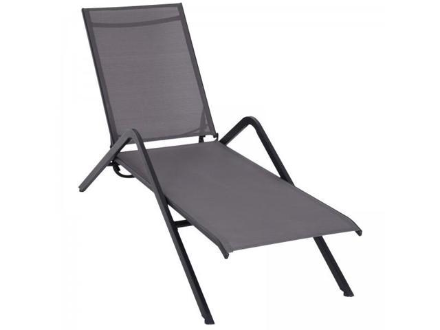 Stupendous Steel Mesh Adjustable Portable Folding Outdoor Chaise Lounge Chair Grey Newegg Com Gmtry Best Dining Table And Chair Ideas Images Gmtryco