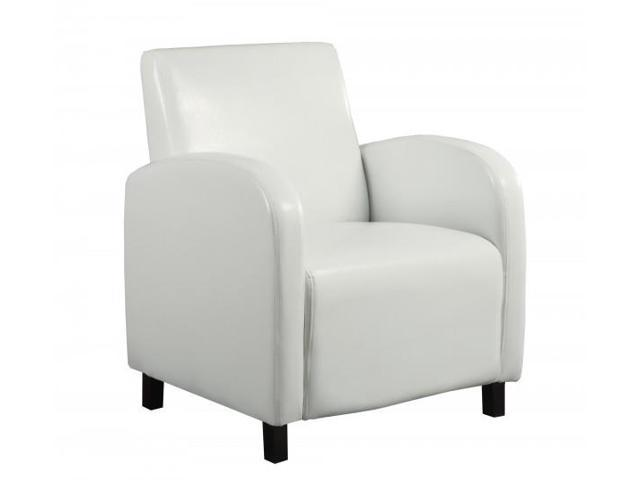Excellent Upholstered Square Seat High Back Leather Look Accent Arm Chair White Newegg Com Bralicious Painted Fabric Chair Ideas Braliciousco