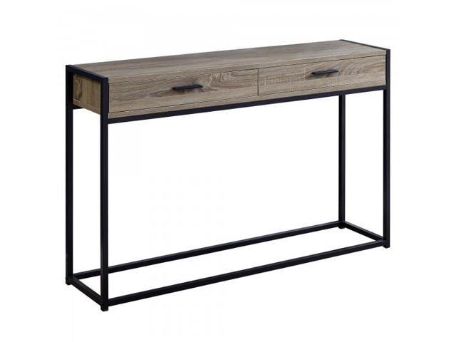Surprising 48 Contemporary Industrial Accent Hall Sofa Console Table With 2 Drawers And Minimalist Metal Base Dark Taupe Wood Grain Look Black Metal Ibusinesslaw Wood Chair Design Ideas Ibusinesslaworg