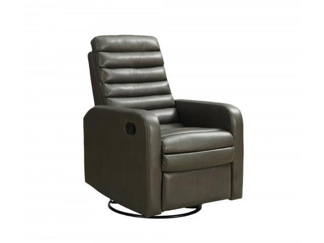 Awe Inspiring Contemporary Quilt Back Bonded Leather Swivel Glider Recliner With Retractable Footrest Charcoal Grey Newegg Com Evergreenethics Interior Chair Design Evergreenethicsorg