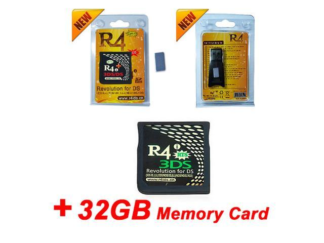 R4i 3DS Gold Plus + 32GB Memory Card, R4i gold card R4i SDHC RTS R4 3DS  Supports Newest 3DS XL/LL, 3DS , NDSL NDS - Newegg com