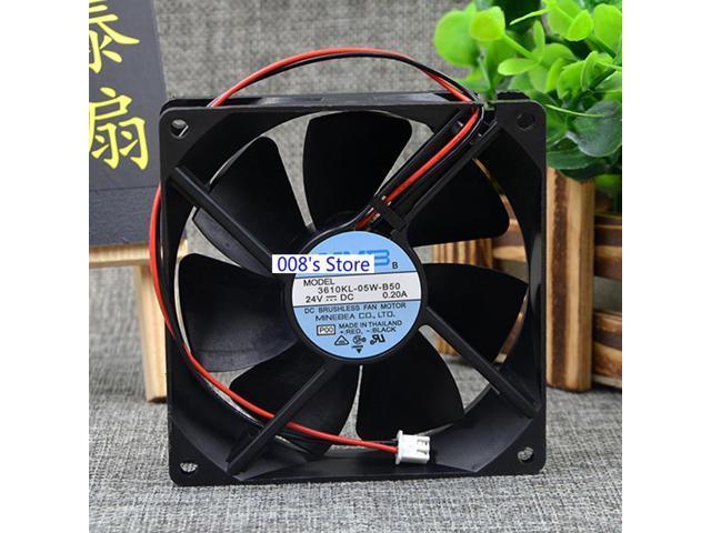 Cooler Fan For NMB 3610KL-05W-B50 24V DC 0.20A 9.2cm 92*92*25MM 54.7CFM 3200RPM