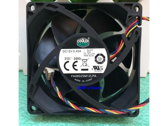 New Radiator CPU Cooler Fan For FA08025M12LPA 8CM 80*80*25MM 0 45A DC 12V 4  Pins PWM Hydraulic Mute Temperature Control Master - Newegg com