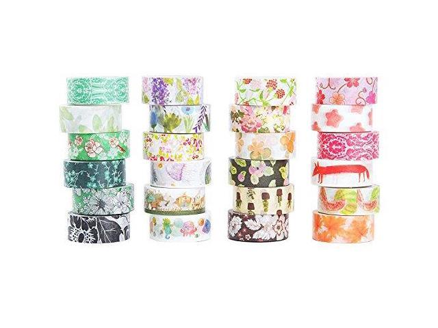mix 48 Rolls Washi Tape Set,Decorative Washi Masking Tape Set for DIY Crafts and Gift Wrapping