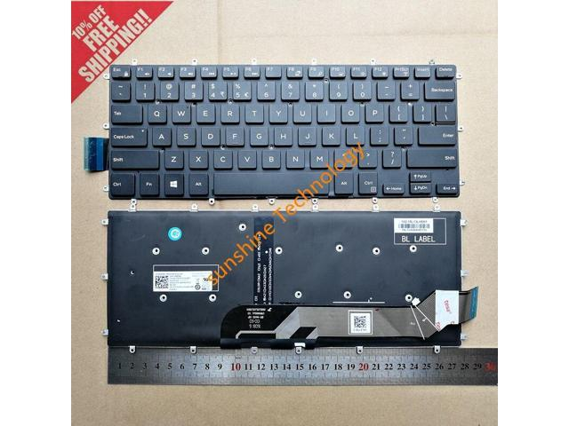 Original New for Dell Inspiron 14 Gaming 7466 US English backlit Keyboard