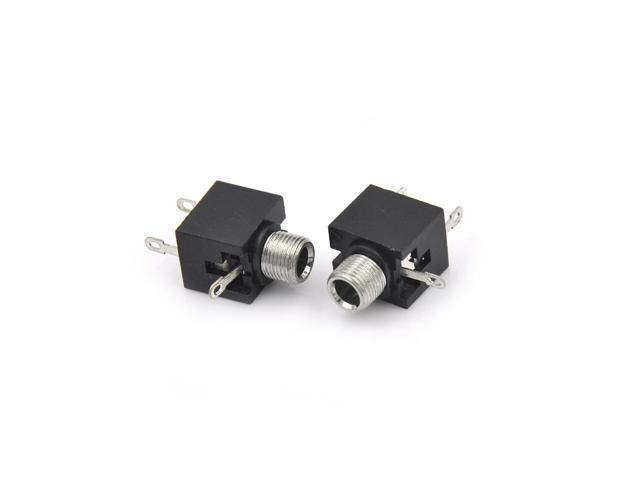 5pcs/lot 3.5mm Female Audio Connector 3 Pin DIP Headphone Jack Socket Mono  Channel Double Track Socket Stereo Socket - Newegg.com