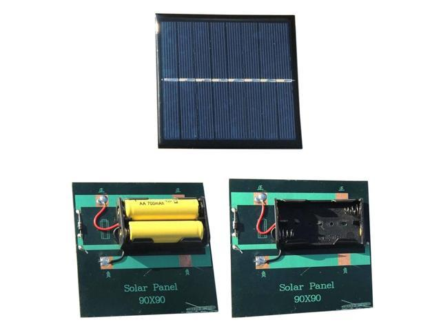 Portable Solar Panel 1w 4v Rechargeable 2 Aa 1 2v Mini Solar System Diy Power Bank Charger For Battery Cell Phone Chargers Newegg Com
