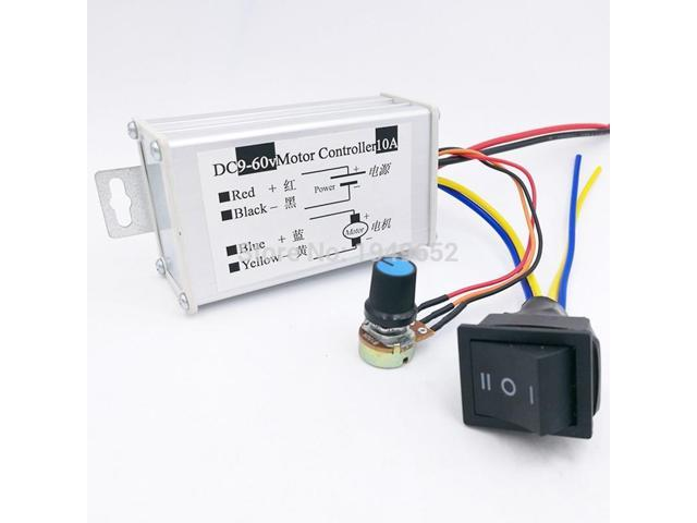 10A DC motor Speed Controller 9-60V Reversible PWM Control Forward/Reverse  Switch - Newegg com