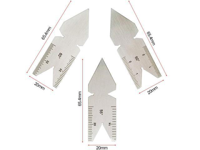 1pc 55/60 Center Gauge Angle Degrees Template Inch Metric Screw Thread  Pitch Gauge Measuring Lathe Tools - Newegg com