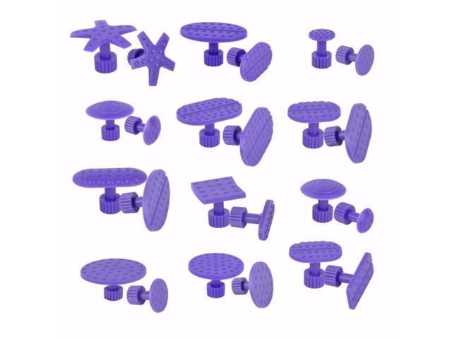 24Pcs Car Auto Body Paintless Dent Hail Repair Hand Tool Purple Plastic  Glue Puller Tabs Pad Automobile Repair Tools Set - Newegg com