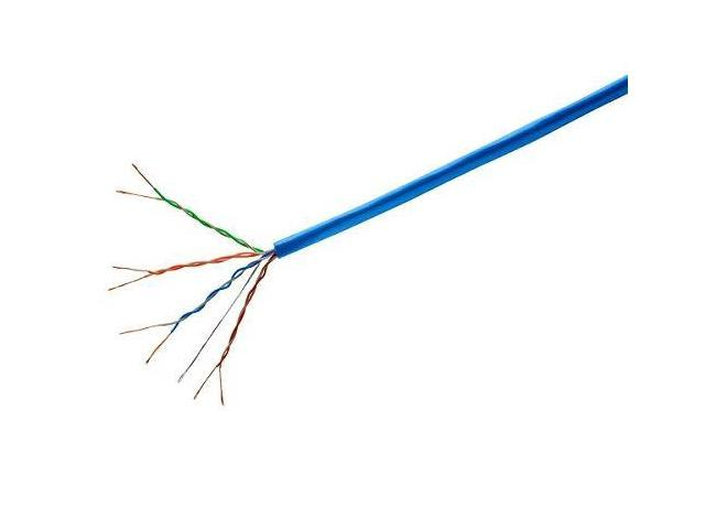 Blue 24AWG Pure Bare Copper Wire Stranded CM Network Internet Cord Monoprice Cat6 Ethernet Bulk Cable 1000ft UTP 550Mhz
