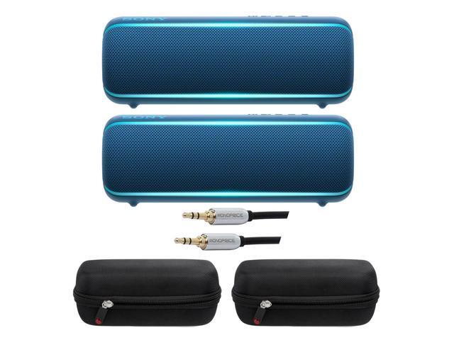 Sony Srs Xb22 Extra Bass Portable Bluetooth Speaker Blue Pair Bundle Newegg Com
