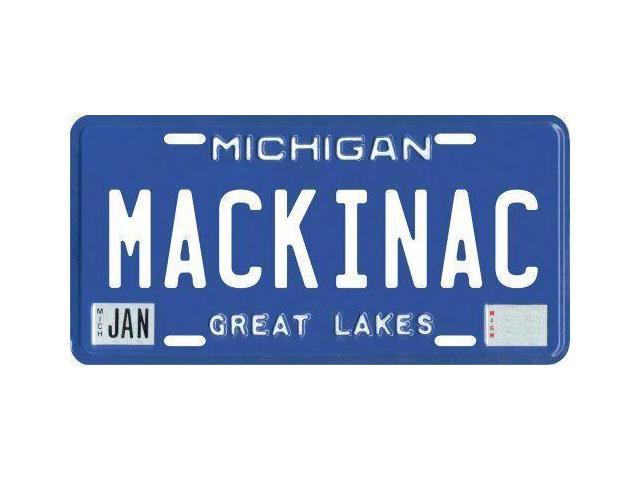 Mackinac Island Michigan Aluminum MI License Plate
