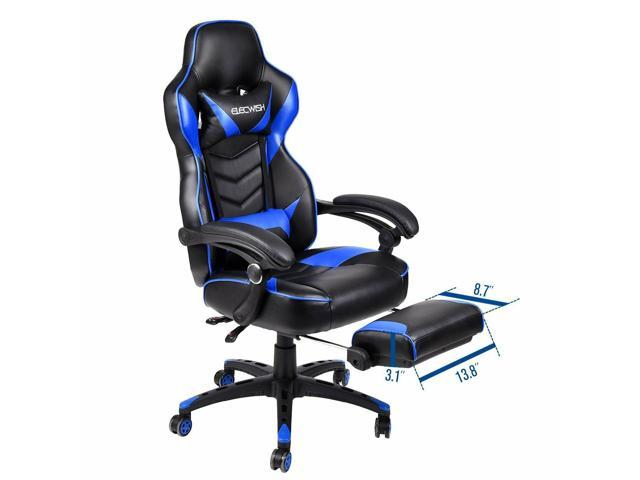 Astounding Video Racing Gaming Chair Ergonomic Pu Leather Office Swivel Recliner Footrest Squirreltailoven Fun Painted Chair Ideas Images Squirreltailovenorg