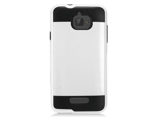 Coolpad Catalyst 3622a - Brushed Hybrid Case TPU White Hard Case -  Newegg com