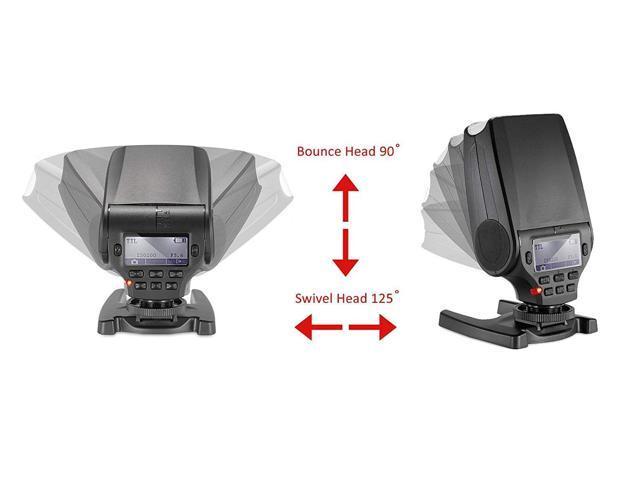 Bounce & Swivel Head Compact Multi-Function LCD Flash for Sony Cyber-Shot  DSC-RX10 III (Multi-Interface) - Newegg com
