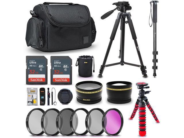 Ultimate 58MM Accessory Bundle Kit for Canon EOS Rebel T7 T7i T6i T6S T6  T5i T5 T3i SL2 EOS 4000D 80D 77D 70D EOS 9000D 800D 760D 750D 1300D 1200D