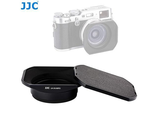 JJC LH-JX100FII Black Square Metal Lens Hood for Fujifilm X70 X100 X100S  X100T X100F, Fuji X100S Lens Hood, X100T Lens Hood, X100F Lens Hood,  W/Front