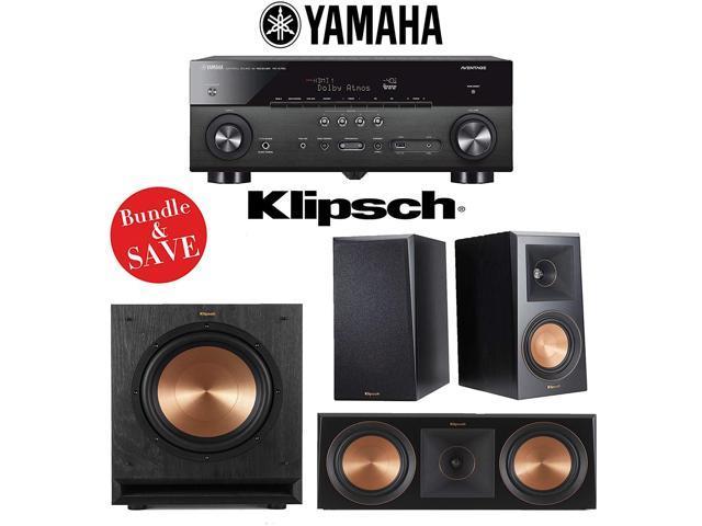 Yamaha RX-A780 AVENTAGE 7 2-Channel AV Receiver + Klipsch RP-500M + Klipsch  RP-600C + Klipsch SPL-10 - Newegg com
