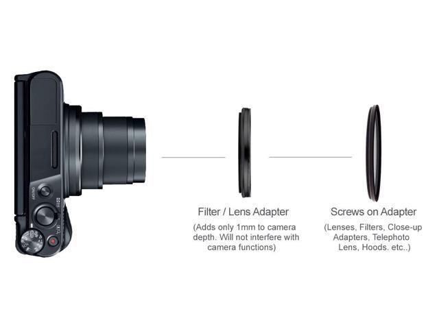 C-PL Includes Filter//Lens Adapter Multicoated Multithreaded Glass Filter for Sony/ZV-1 Circular Polarizer