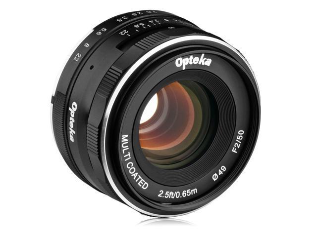 Opteka 50mm f/2 0 HD MC Manual Focus Prime Lens for Canon EF-M Mount APS-C  Digital Cameras - Newegg com