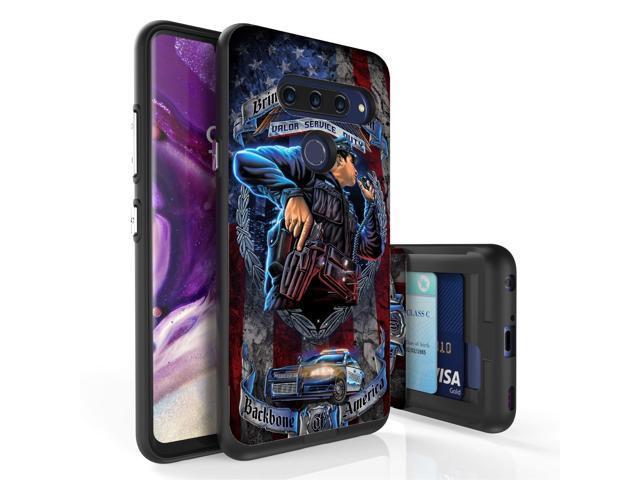 For LG V40 ThinQ Credit Card Slide Slot Slim Case POLICE OFFICER -  Newegg com