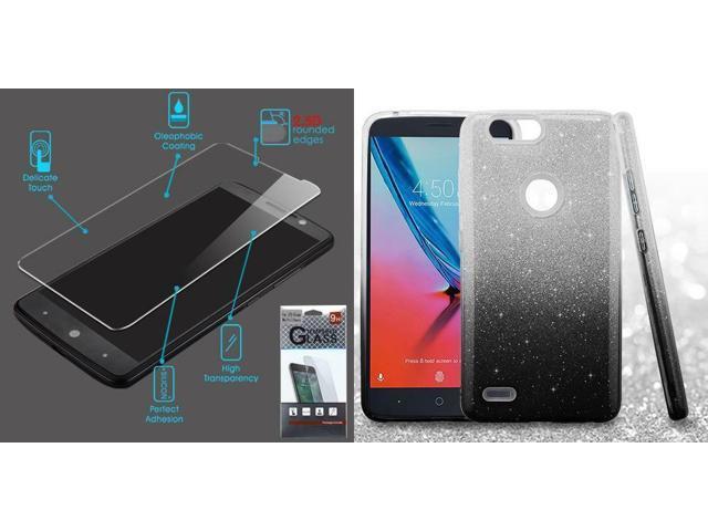 Combo Temper Glass ZTE Sequoia Z982 Blade Z Max + Black Gradient Glitter  Sequoia - Newegg com
