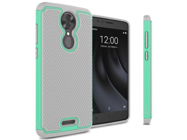 Teal / Gray Case For Coolpad T-Mobile REVVL Plus Hybrid Shockproof Phone  Cover - Newegg com