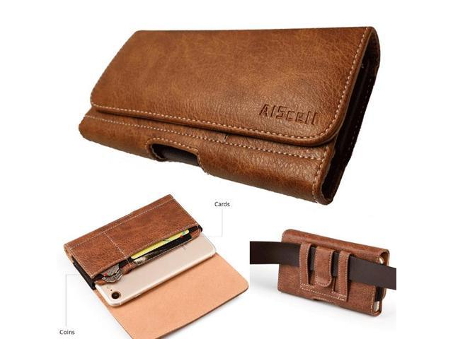 21a8353c651e Brown Leather Pouch Wallet Case Belt Clip Holster For Motorola Moto z3 / z3  play - Newegg.com