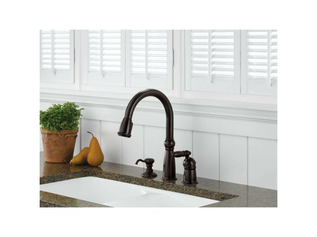 Delta Victorian Venetian Bronze Pull Down Kitchen Faucet & Soap Dispenser  D024CR - Newegg.com